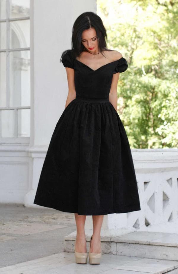 платье миди длины для особого случая