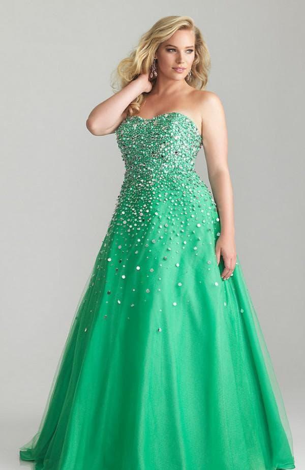 цветное платье для полной невесты