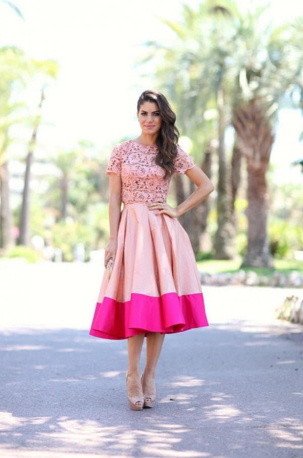 платье миди на свадьбу весной