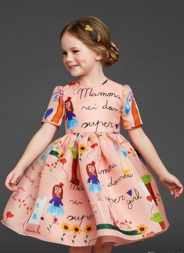 модное новогоднее платье для девочки
