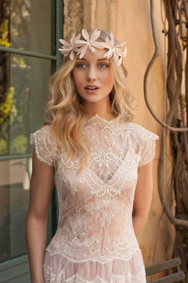 невеста в платье в стиле прованс