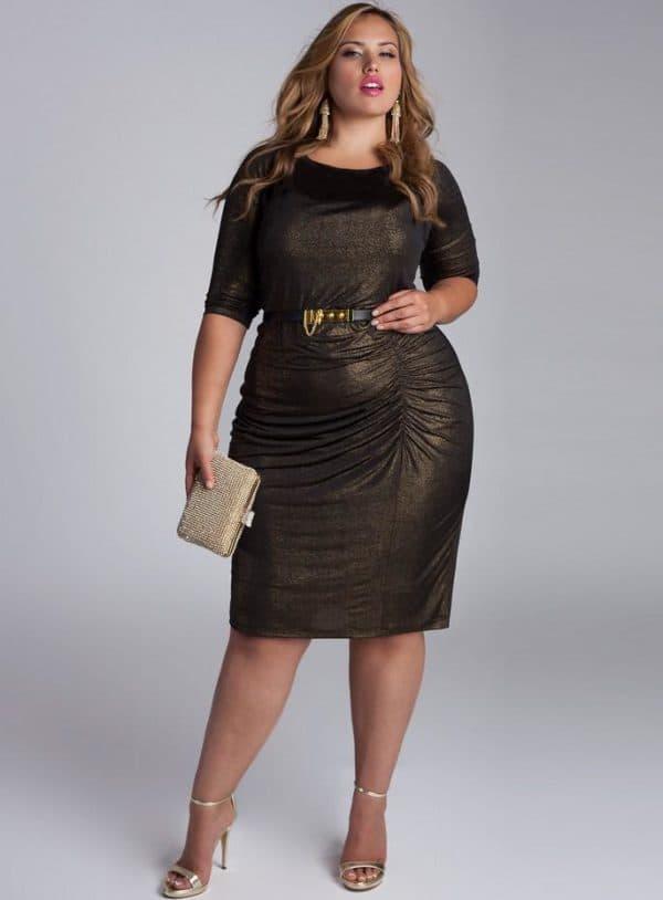платье большого размера на новогодний корпоратив