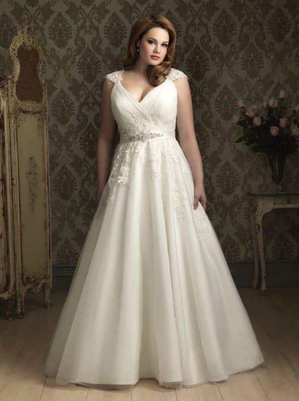 платье принцесса для полной невесты