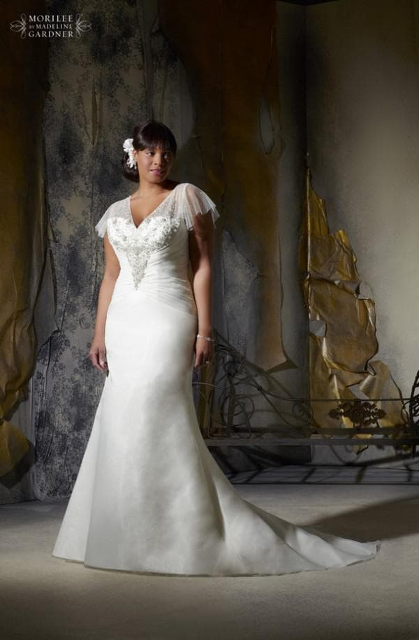 свадебное платье в пол большого размера