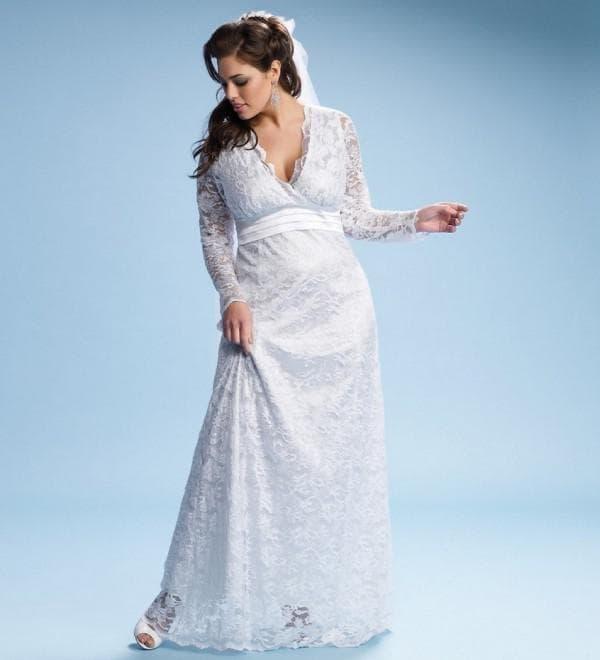 свадебное платье для полной женщины