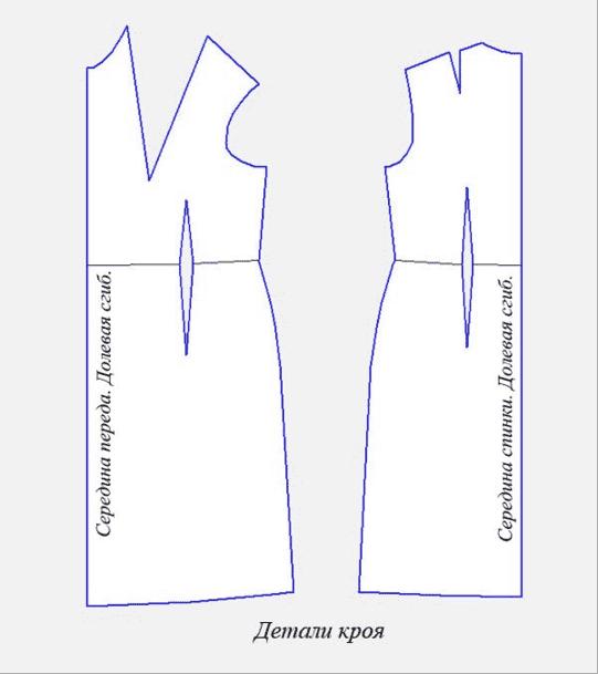 Выкройка платья для полной женщины