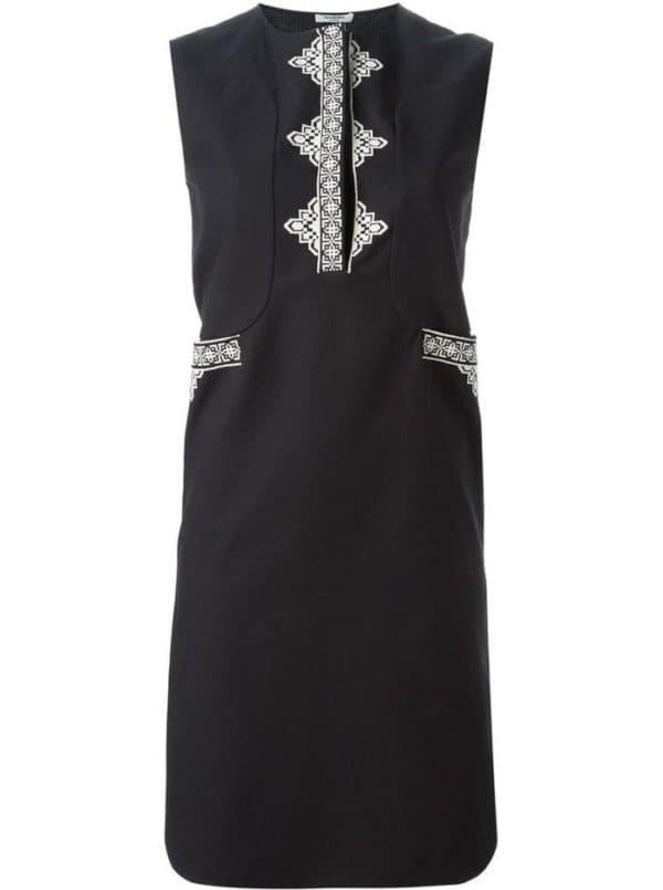 Платье шифт черного цвета