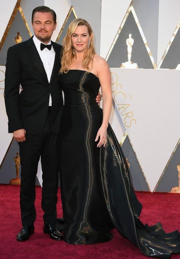 Кейт Уинслет в черном платье