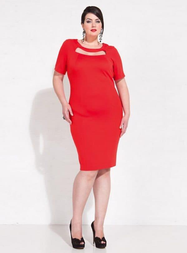 Красное летние платье для полной женщины