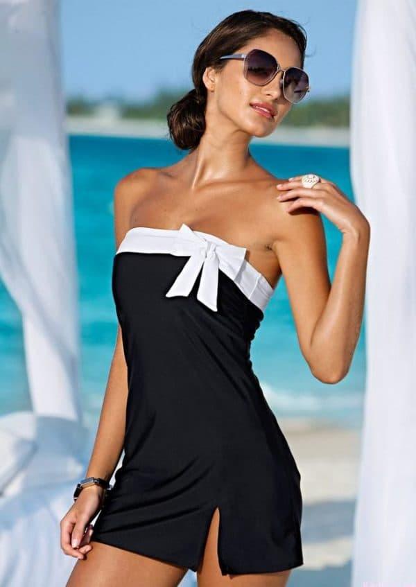 Купальник платье большого размера