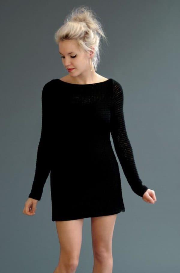 Маленькое черное платье туника