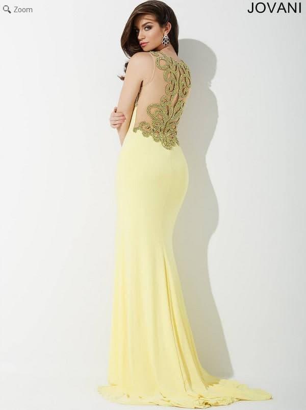 Желтое вечернее платье в пол