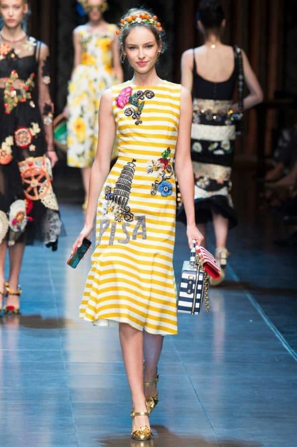 Платье из новой коллекции Дольче Габбана