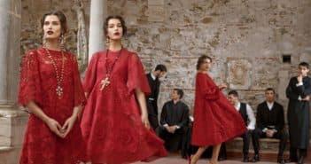 Красные платья от Дольче Габбана