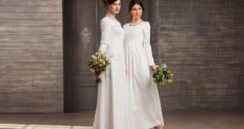 Скромные платья для венчания