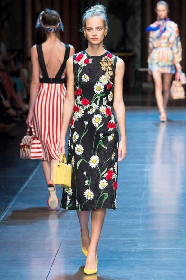 Платье в цветочек от Дольче Габбана