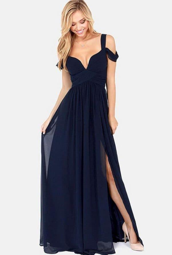Вечернее длинное платье для беременной