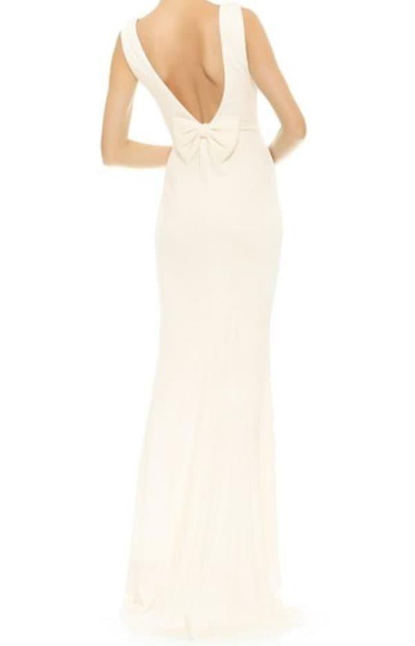 Дизайнерское обтягивающее платье белого цвета