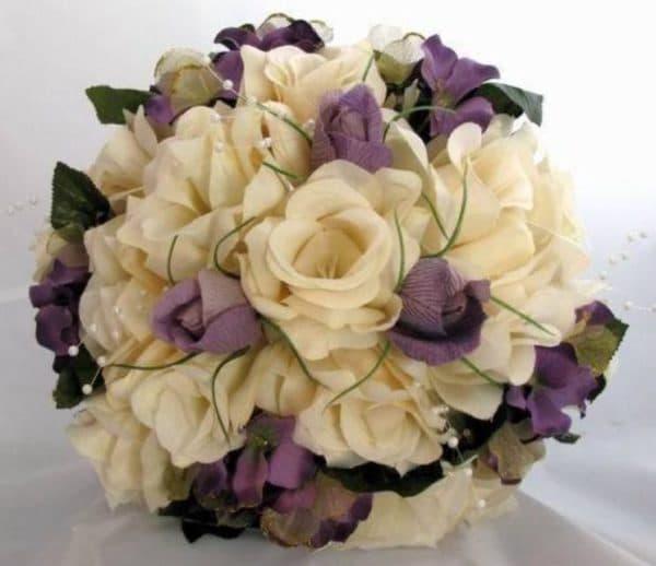Букет невесты для платья цвета айвори