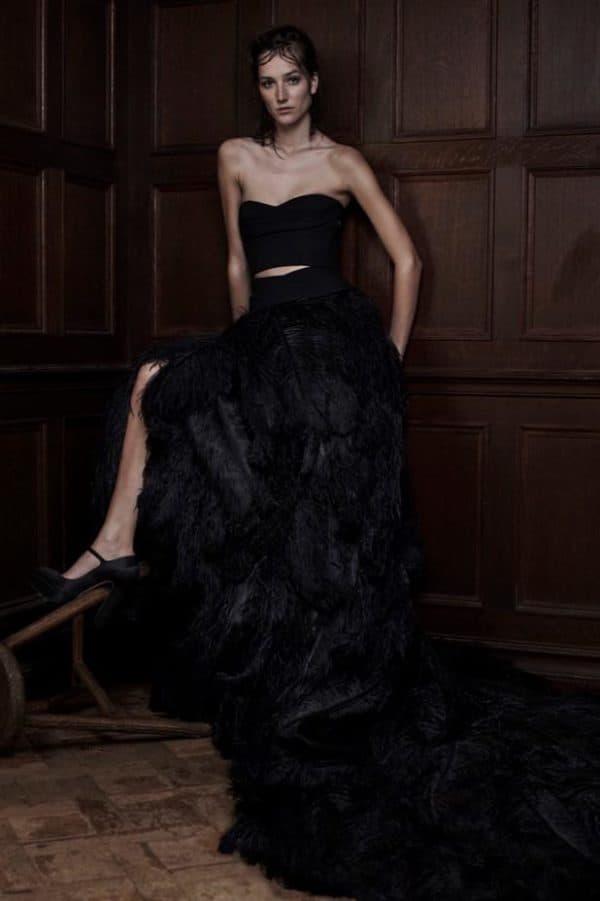 Черное свадебное патье Vera Wang