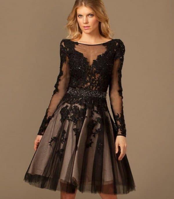 Черное платье на последний звонок