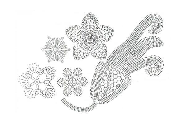 Цветочное кружево схема