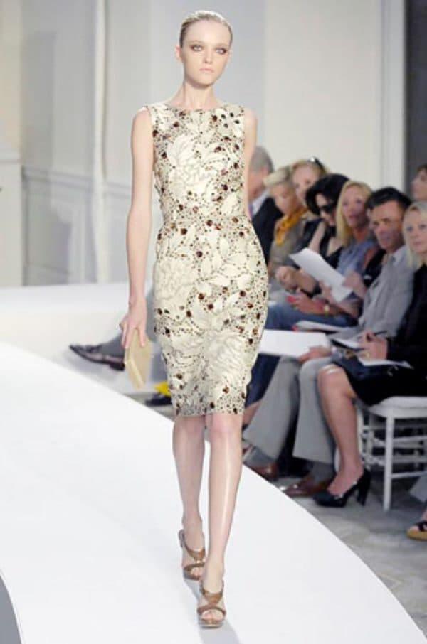 Модное платье ирландское кружево