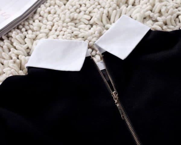 Черное платье с белоснежным воротничком