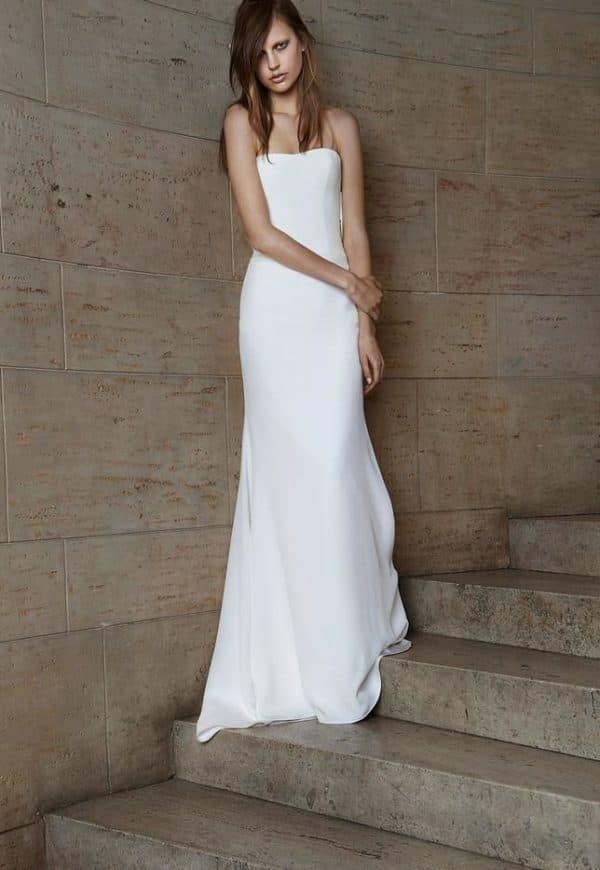 Скромное свадебное платье Вера Вонг