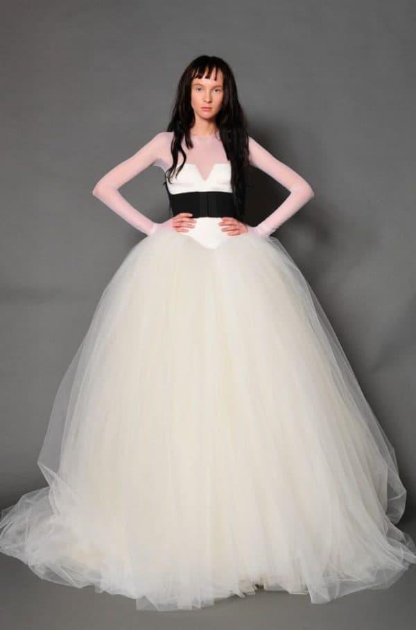 Свадебное платье пышное от Веры Вонг