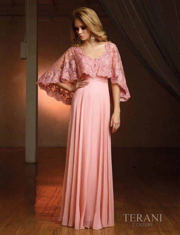 Розовое вечернее платье на свадьбу для невесты