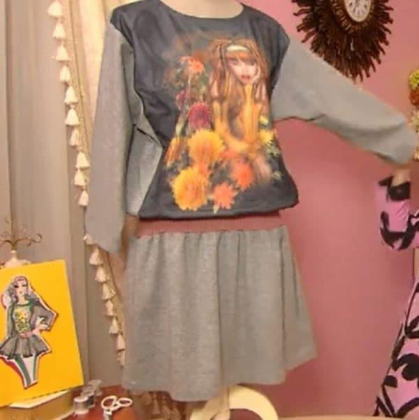 Платье с рисунком своими руками