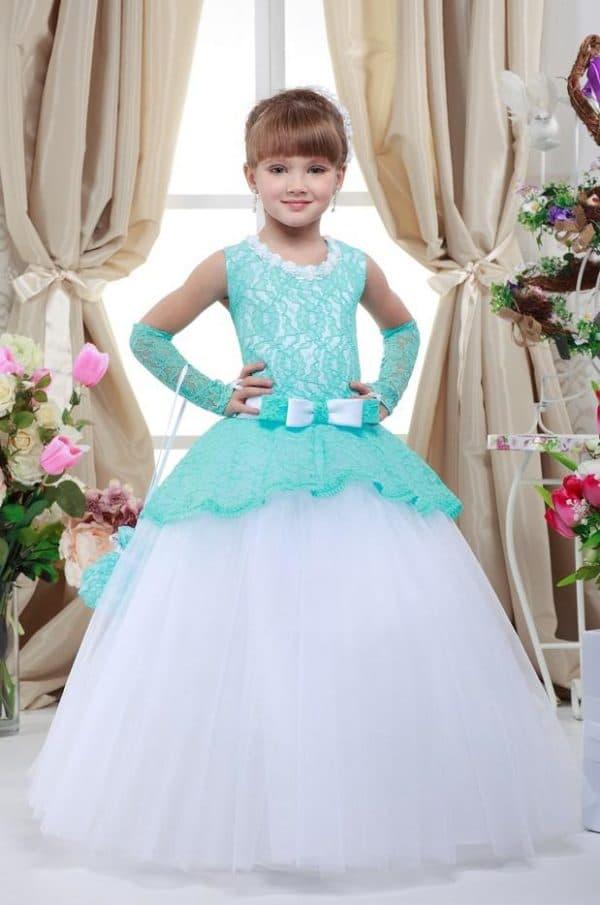 Пышное платье на выпускной в детский сад