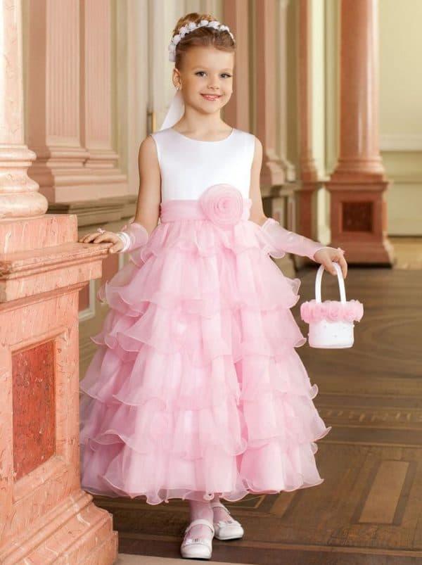 Бальное платье на выпускной в детском саду для девочки