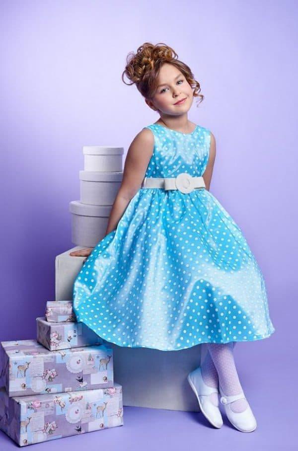 Голубое платье на выпускной в детский сад
