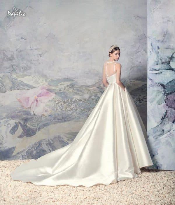 Свадебное платье Папилио из атласа