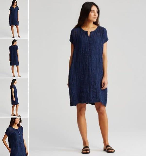 Темно-синее платье миди для полных