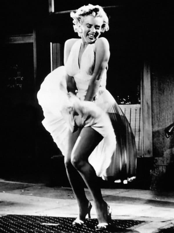 Улетающее платье Мерлин Монро