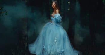Платье принцесса голубого цвета