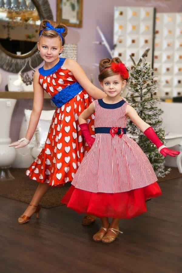 Стильные платья в ретро стиле для девочек