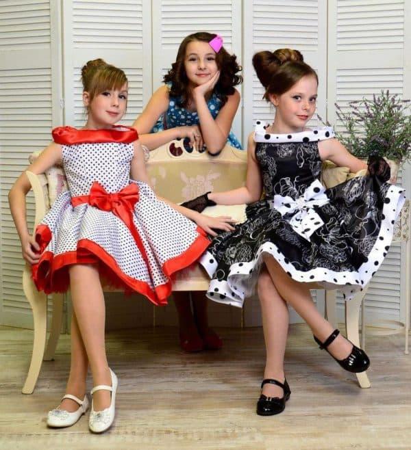 Платья в стиле стиляг для школьниц