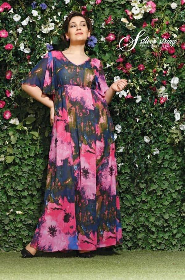 Модное шифоновое платье для полных