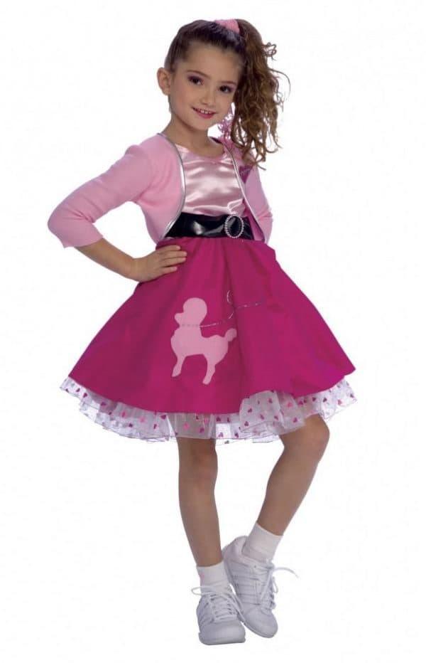 Красивое платье для девочки в стиле стиляги