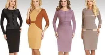 Платья в деловом стиле для женщин старше 50 лет
