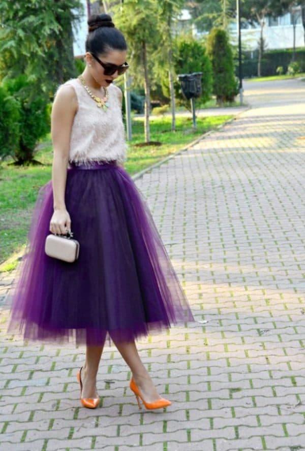Фиолетовая юбка-пачка